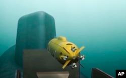 Компьютерная графика демонстрирует российский подводный беспилотник, способный нести ядерные заряды